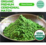 Tranquil tea, USDA Organic Premium Ceremonial Grade Matcha Green Tea Powder 8 ounce (1 oz. bag/ 8 bags) bulk