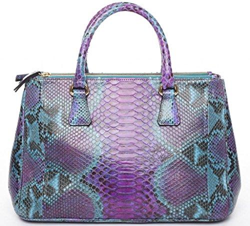 turquoise Niveau Shopper kalbledergefüttert Josephine Josybag Pythontasche Caracas Handtaschen Osthoff manufaktur Au Sac PythonViolet Noir SUVpzM