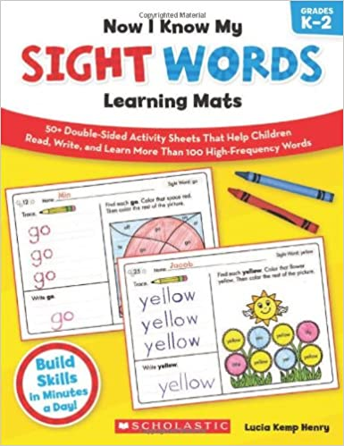 Amazon.com: Now I Know My Sight Words Learning Mats: 50+ Double ...