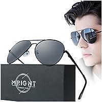 Hombre Militar Aviador clásico anteojos de sol polarizadas UV400con un Funda para anteojos de sol...