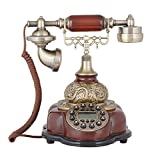 TelPal Decorative Classic Landline Telephone Set Corded, Classic Antique Telephone Retro Telephone Old Fashioned