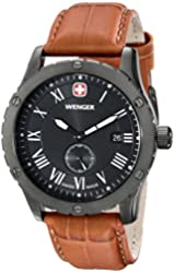 Wenger Men's 71000 Amazon-Exclusive Grenadier Stainless Steel Watch with Brown Leather Band