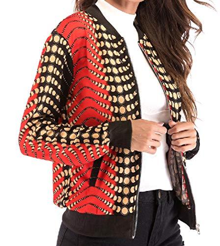 Howme Print Digital with Slim 12 Casual Jacket Pockets Jersey Women rrwq7AC