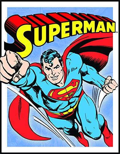 (Desperate Enterprises Superman Retro Panels Tin Sign, 13x16)