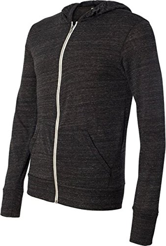 Grey Zip Hoodie (Alternative L/S Zip Hoodie Eco Grey Men's Sweatshirt)
