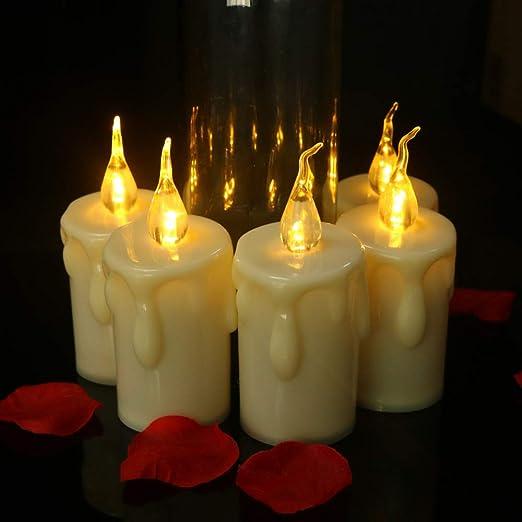 wangZJ Tears vela electrónica/vela de plástico/decoración de ...