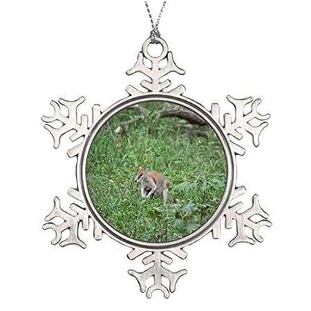 metal ornaments kangaroo australia wallaby australian animal xmas trees decorated the snowflake ornament shop