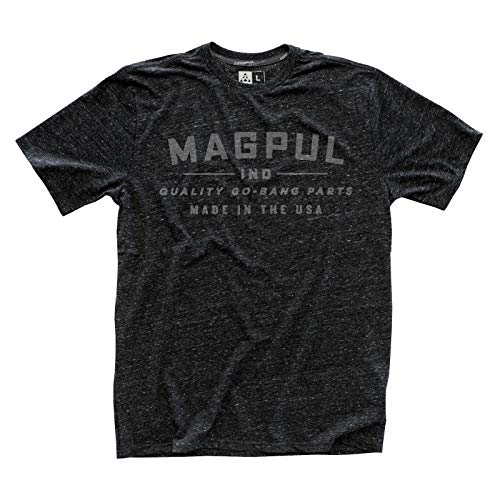 Magpul Men's Megablend Go Bang T-shirt,  Charcoal Heather,  Large -