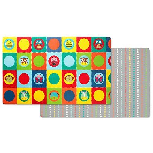 Skip Hop Zoo Reversible Waterproof Foam Baby Play Mat, Multi Colored, 86'' X 52'' by Skip Hop (Image #1)
