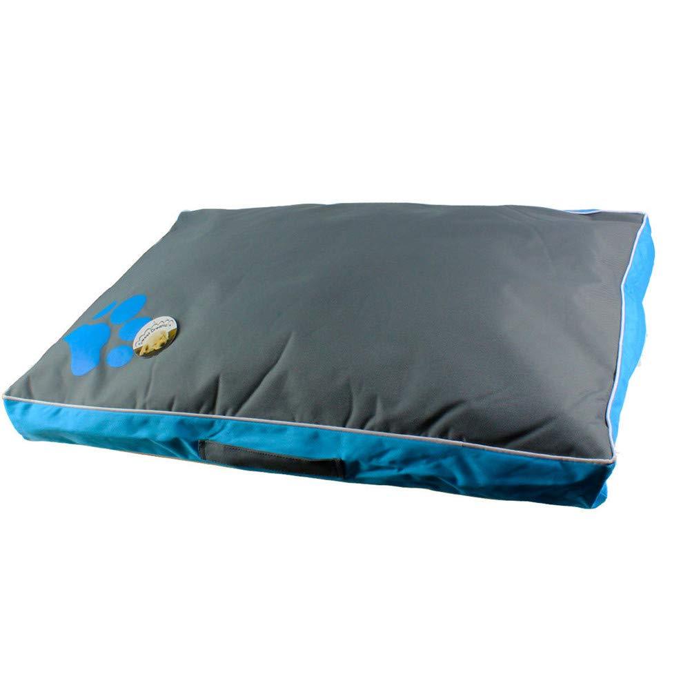 bluee Medium bluee Medium Waterproof Oxford Cloth Dog Mat Filled PP Cotton Breathable Pet Nest Zipper Design Detachable Cleaning Kennel   3 Sizes,bluee,M