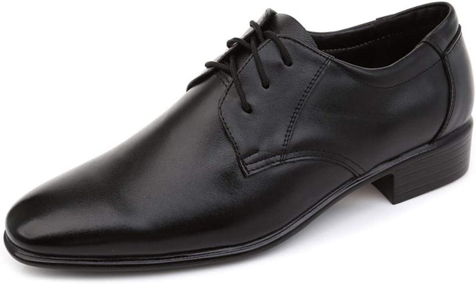 Schwarz 39 EU YEEWEN Handgemacht Herren Business Oxford Schuhe schn&uu ;ren Stil echtes Leder Square Toe Low Top Solid Farbe Abendschuhe (Farbe   Schwarz, Gr&ou ;ße   39 EU)