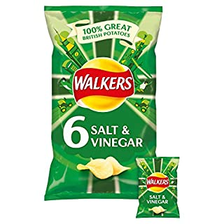 Walkers Salt and Vinegar Crisps 6 Pack 150g
