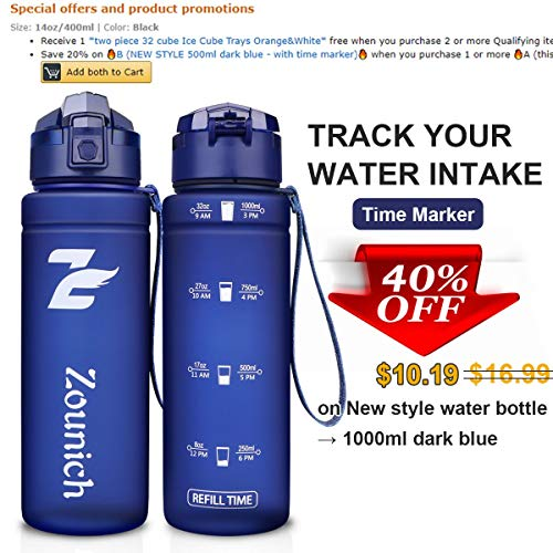 Reusable Gym Bottle Ideal Running Travel BPA Free Tritan Plastic Sports Water Bottles Time Marker /& Filter /& Lock Lid Cycling DB DEGBIT Leak Proof Motivational Water Bottle