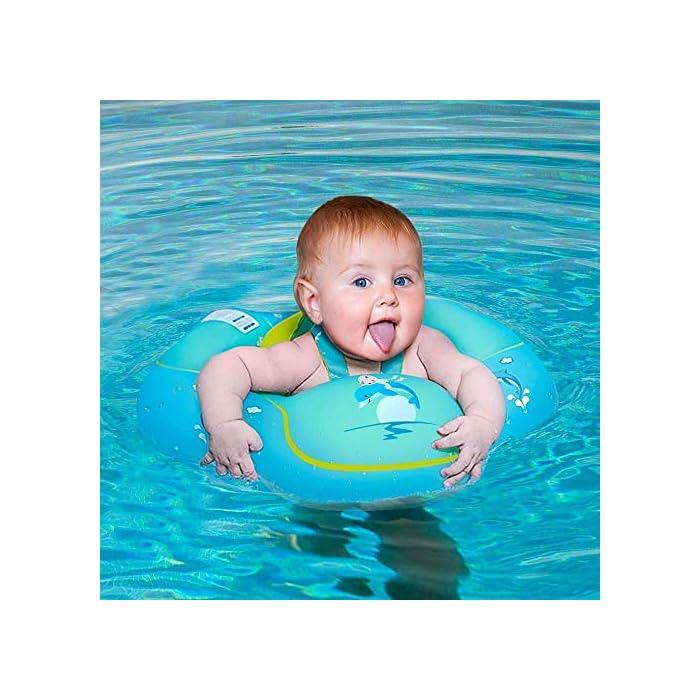 51So otdytL Flotador de natación para bebés con asiento y axila de chaleco: es el flotador de bebé de gran diseño con asiento y respaldo ajustable para que el bebé se divierta en la piscina o en la playa Hecho de calidad ambiental de PVC: material duradero e impermeable, no tóxico y seguro para tocar la piel suave del bebé. El proceso y el diseño cumplen los requisitos de las normas internacionales de seguridad de los juguetes. Garantizar la seguridad: 3 diseños de bolsas de aire independientes, cada bolsa de aire se puede inflar por separado para garantizar la seguridad del niño.