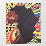Society6 Alkebulan (Africa) Throw Blankets 68'' x 80'' Blanket