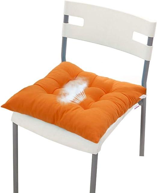 Almohadillas cuadradas de algodón para butacas, cojín de asiento de microfibra para silla, almohadillas de algodón para silla para interior y exterior, jardín, patio, casa, cocina, oficina, cuadrado: Amazon.es: Jardín