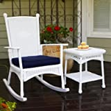 Tortuga Portside 3 Piece Patio Bistro Set in White Review