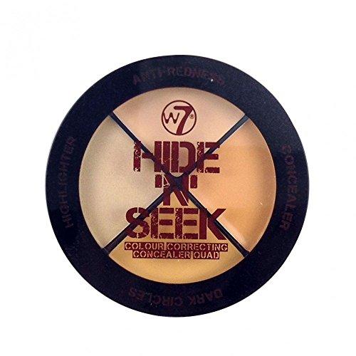 W7 Hide 'N' Seek Quad Colour Correcting Concealer -Natural