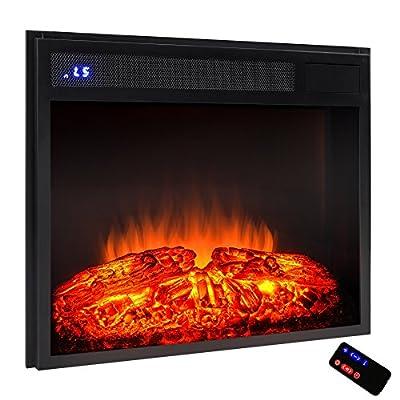 "AKDY 23"" Black Electric Firebox Fireplace Heater Insert W/Remote Azfl-EF05-23r"
