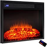 "AKDY 23"" Black Electric Firebox Fireplace Heater Insert W/Remote Azfl-EF05-23r"