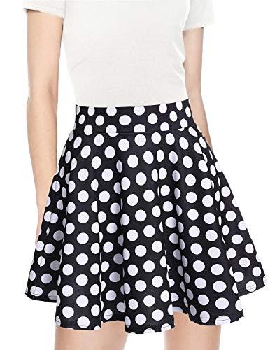 Colore White Solida Black Bridesmay Dot Mini Casual Gonna Vita Donna Alta nYBa7