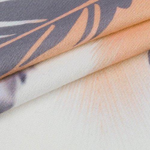 camiseta Top Plumas Mujeres cuello O naranja mangas informal Verano Moda sin Impreso estilo tama sin con Chaleco de floja Chica Blusa Camisetas o mangas Adeshop gran Camisa 5BZwX6qS5