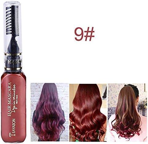 ポータブル 15 ml 使い捨て 一時的な 自作の髪の色染料 クリーム アイラッシュマスカラ 9 # ワインレッド