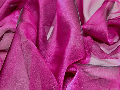 Two Tone Crystal Organza Dress Fabric Pink/Purple - per metre