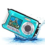Underwater Digital Camera 2.7K 48MP Waterproof Camera for Snorkeling Water Photography Camera Selfie Digital Cam with Recorder 10 Ft Underwater Dive Reef Cam Dual Screen System