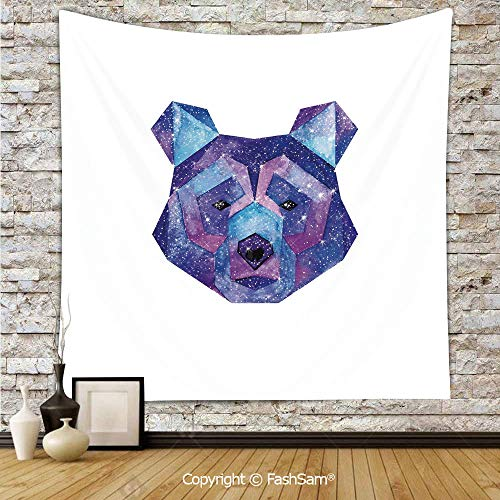 FashSam Tapestry Wall Hanging Cosmic Polygonal Wildlife Figure Hand Drawn Watercolor Artwork with Galaxy Pattern Decorative Tapestries Dorm Living Room Bedroom(W39xL59) -