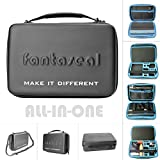 Action Camera Mounts Accessories Hand Bag for GoPro Carrying Case Bag Organizer Hi Capacity Dual-Layer Waterproof Anti-impact Travel Suitcase for GoPro Hero 6 5 4 3+ 3 Session Sony Yi AKASO -13''