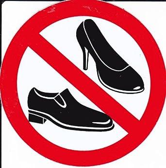 Interdit , chaussures pour femmes , 10 cm de diamètre autocollant  Autocollants