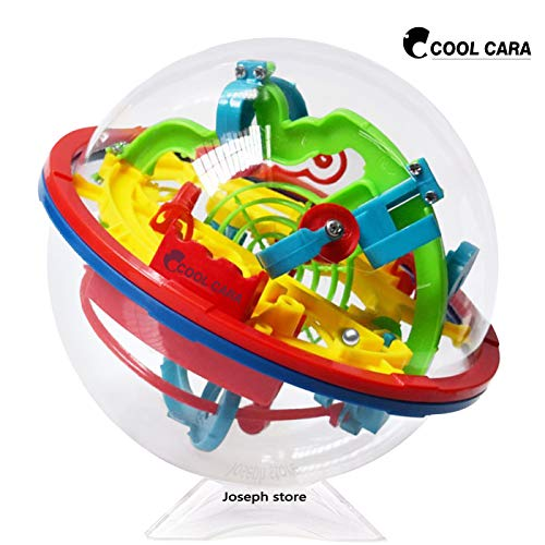 Cool Cara Puzzle Ball 3D Maze Ball Game Intellect Puzzles Labyrinth Sphere, Brain Teasers Puzzle 100 Shut Challenging Barriers 5.12x4.72in (0.16lb) ()