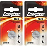 ENERGIZER Cr1620 DL1620 Lot de 2 piles boutons au lithium pour clés de voiture 3V