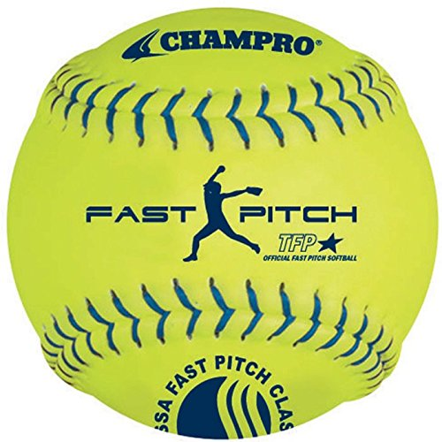 (Champro Leather USSSA Fast Pitch Ball (Optic Yellow, 11-Inch) (Pack of 12))
