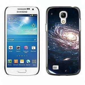TECHCASE**Cubierta de la caja de protección la piel dura para el ** Samsung Galaxy S4 Mini i9190 MINI VERSION! ** Spiraling Galaxy Purple Planets Bright Light Universe