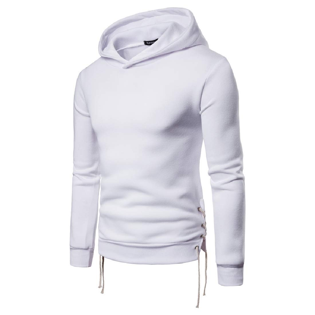 Fseason-Men Pullover Hoodie Casual Solid Colored Jacket Sweatshirts