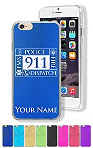 """Personalized Case for Apple iPhone 6 Plus (5.5"""") - POLICE DISPATCHER - Engraved for FREE"""