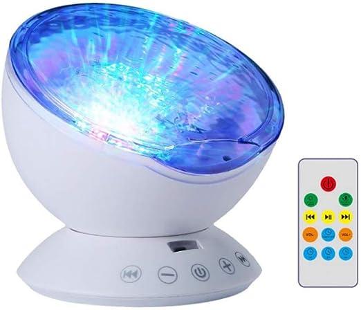 WFOM LED Luz Nocturna Infantil Proyector Océano Lámpara con ...