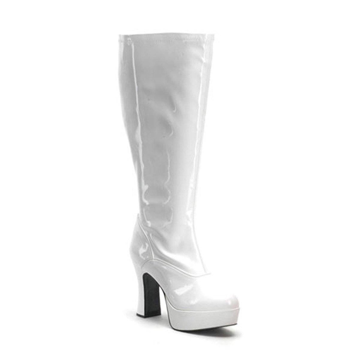 67e629a34d7 Funtasma Womens Plus Size 4 Inch Sexy Wide Width Wide Calf Knee High Boot  White Platform