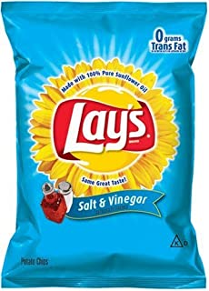 product image for Lay's Potato Chips, Salt & Vinegar, 1.5-Ounce Large Single Serve Bags (Pack of 64)