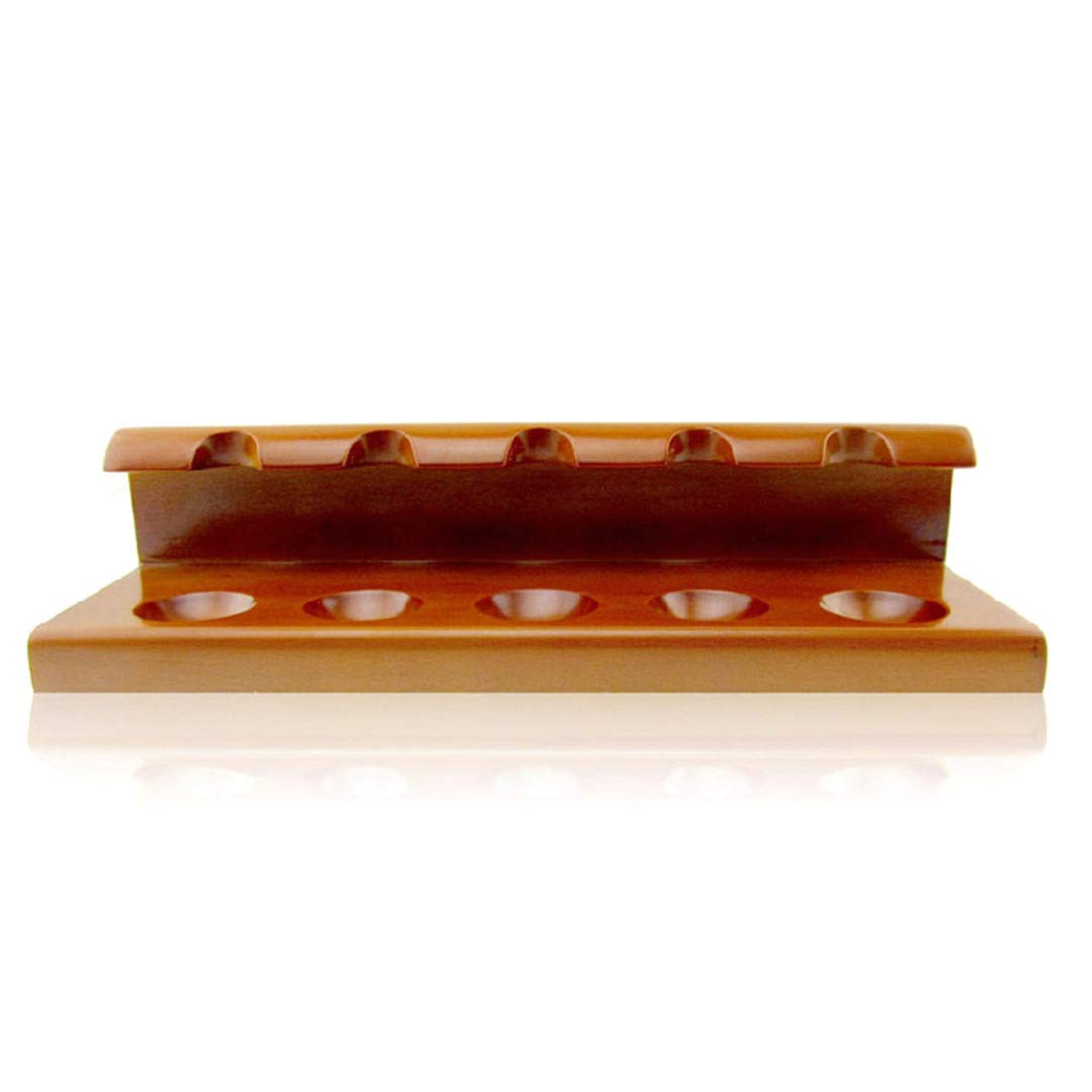 Wood Tobacco Pipe Rack Holder- Tobacco Pipe Holder Stand for 5 Smoking Pipes by Liang