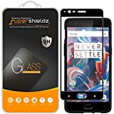 [2-Pack] Supershieldz for OnePlus 3 / OnePlus 3T Tempered Glass Screen Protector, [Full Screen Coverage] Anti-Scratch, Bubble Free, Lifetime Replacement Warranty (Black)