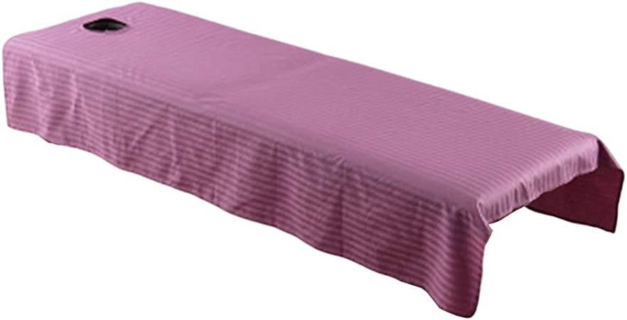 Sabana para Camilla de Masaje para Tratamientos de Belleza / 120 X 190 Cm Antiadherente - Púrpura: Amazon.es: Hogar