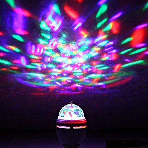 Lightahead LA Rotating LED Strobe Bulb Multi Changing Color - Strobe lights for bedroom