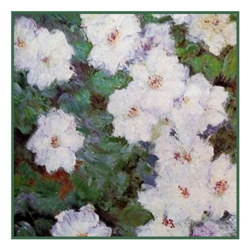 Orenco Originals Clematis Vine detail by Claude Monet Counted Cross Stitch (Clematis Lily)