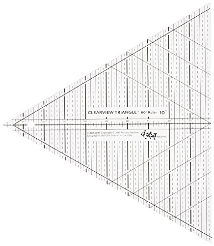Clear Acrylic Triangle (C&T Publishing CTP20329 Clearview 60 Degree Triangle Ruler, 10