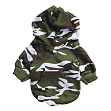 Vividda Pet Dogs Clothes Dog T Shirt Dog Vest Camouflage Style Clothing Small Dogs Clothes Cotton Dog Costume Green XS