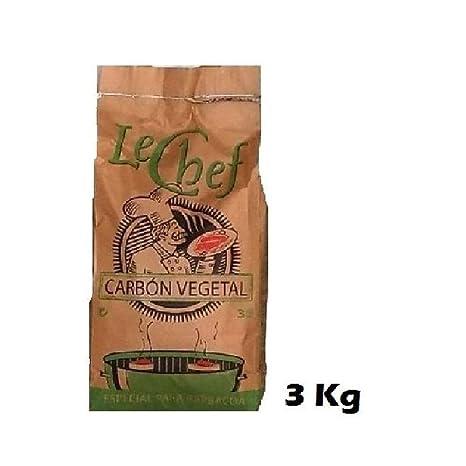 Carbón Vegetal LeChef 3 Kg especial barbacoas