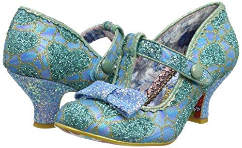 Women''s Blue Bar T Gold Choice Heels Irregular Lazy River Blue Uq56ypw